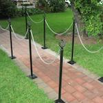 Back Stanchions & Chains for Hire